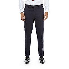 Burton - Montague burton navy slim fit wool suit trousers