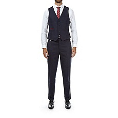 Burton - Montague burton navy slim fit wool waistcoat
