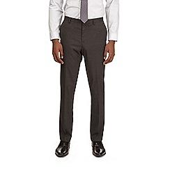 Burton - Dark grey essential slim fit suit trousers with stretch