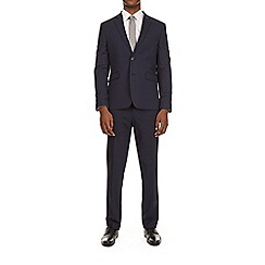 Burton - Navy essential slim fit suit jacket with stretch