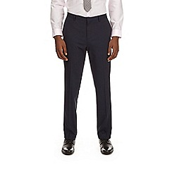 Burton - Navy slim fit essential suit trousers with stretch