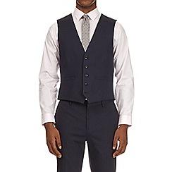 Burton - Navy slim fit essential waistcoat with stretch