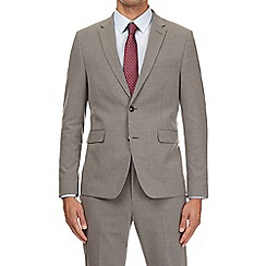 Burton - Grey slim fit with stretch essential suit jacket