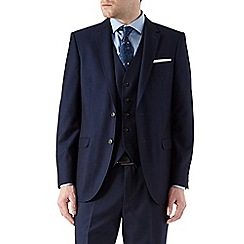 Burton - Tailored fit navy textured suit jacket