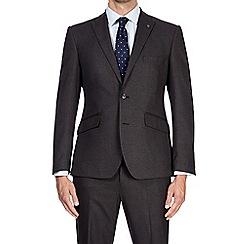 Burton - 3 piece grey tailored fit puppytooth suit