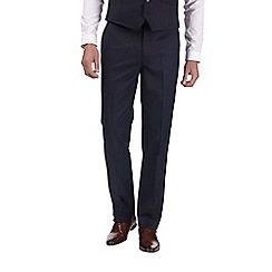 Burton - Navy tailored fit pin dot suit trousers