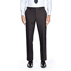 Burton - Grey tailored fit puppytooth suit trousers