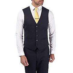 Burton - Navy tailored fit pin dot waistcoat