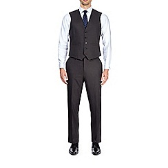 Burton - Grey tailored fit puppytooth suit waistcoat