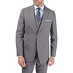 Burton - Charcoal grey tailored fit suit jacket