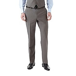 Burton - Tailored fit grey textured suit trousers