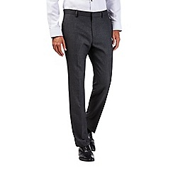 Burton - Tailored fit charcoal textured suit trousers