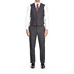 Burton - Dark grey checked tailored fit waistcoat
