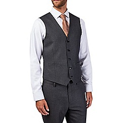 Burton - Tailored fit charcoal textured waistcoat