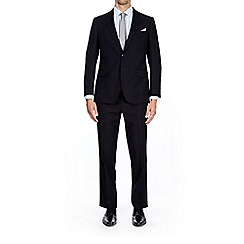 Burton - Navy tailored fit twill suit jacket