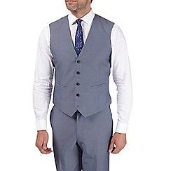 Burton - Steel blue tailored fit waistcoat