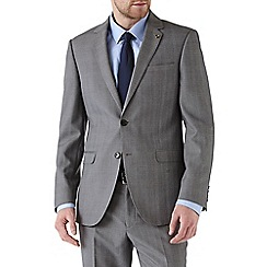 Burton - Tailored fit grey check suit jacket