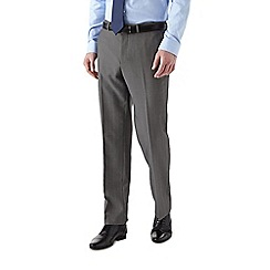 Burton - Tailored fit grey check suit trousers