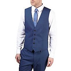Burton - Blue textured tailored fit waistcoat