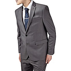 Burton - Grey essential tailored fit suit jacket