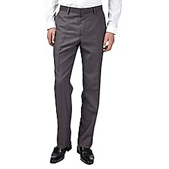 Burton - Grey essential tailored fit suit trousers