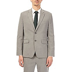Burton - Light grey tailored fit suit jacket with stretch