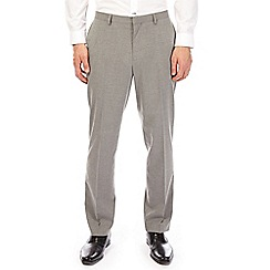 Burton - Light grey tailored fit suit trousers with stretch
