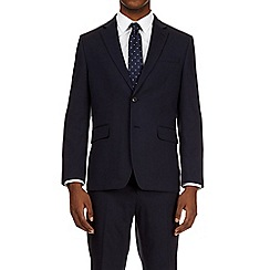 Burton - 2 piece navy essential tailored fit suit with stretch