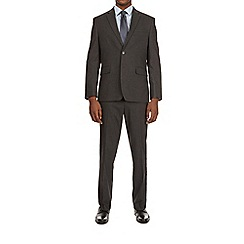 Burton - Dark grey stretch essential tailored fit suit jacket