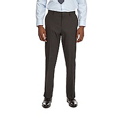 Burton - Charcoal essential tailored fit suit trousers with stretch