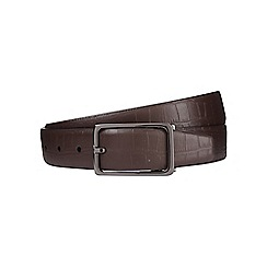 Burton - Brown crocodile reversible belt
