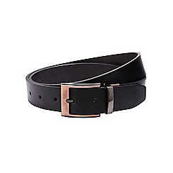 Burton - Rose gold buckle reversible belt