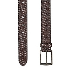 Burton - Brown embossed weave belt