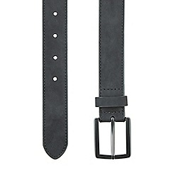 Burton - Black suede belt