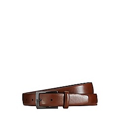 Burton - Brown text buckle belt