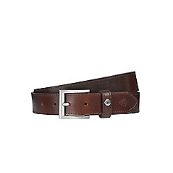 Burton - Brown smart leather belt