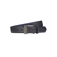 Burton - Navy embossed belt