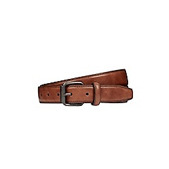 Burton - Brown stitch edge belt