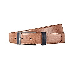 Burton - Tan navy tipped belt