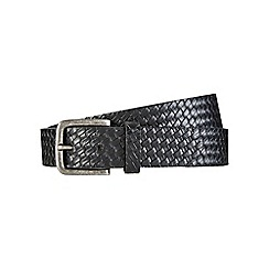 Burton - Black weave embossed belt