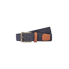 Burton - Navy tipped stretch belt