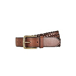 Burton - Brown plait belt