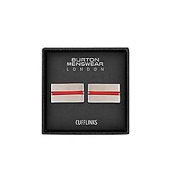 Burton - Red striped cufflinks