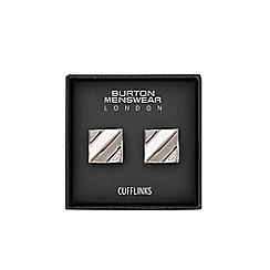 Burton - Silver square cufflinks