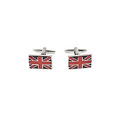 Burton - Silver Union Jack cufflinks