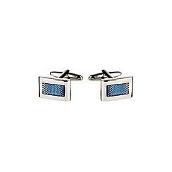Burton - Blue stone cufflinks