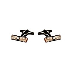 Burton - Copper barrel cufflinks