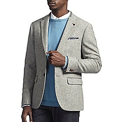 Burton - Montague burton light grey wool blazer