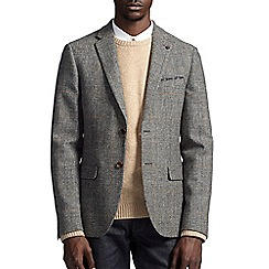 Burton - Montague burton grey checked wool blazer