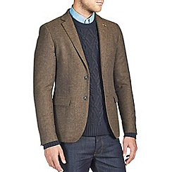 Burton - Brown wool blend textured blazer